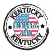 Kentucky, Bluegrass state stamp — Stock vektor