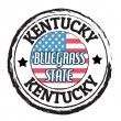 Kentucky, Bluegrass state stamp — Stockvectorbeeld
