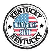 Kentucky, Bluegrass state stamp — Stock Vector