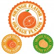 Orange flavor stamp — Stock Vector