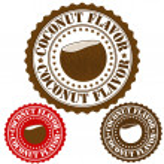 Coconut flavor stamp — Stock Vector #35564947