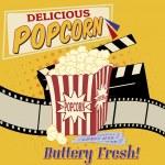 Popcorn poster — Stock Vector #35606015