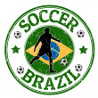 Brazil soccer stamp — Stock Vector