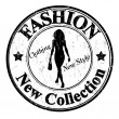 Fashion, new collection stamp — Stock Vector
