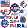 Made in the USA graphics and labels — Stock Vector #35866313
