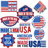 Made in the USA graphics and labels — Stock Vector