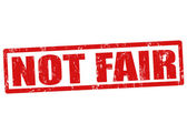 Not fair stamp — Stock Vector