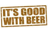 To jest dobre piwo pieczęci — Wektor stockowy
