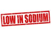 Low in sodium stamp — Stockvector