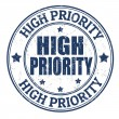 High priority stamp — Stock Vector