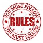 Постер, плакат: Rules stamp