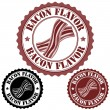 Bacon flavor stamp — Stock Vector