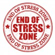 End of stress zone stamp — Stock Vector