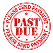 Past due stamp — Stock Vector #35947847