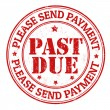 Stock Vector: Past due stamp