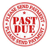Past due stamp — Stock Vector