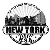 New York ( The city that never sleeps) stamp — Stock Vector