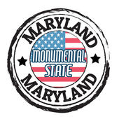 Maryland, Monumental State state stamp — Stock Vector