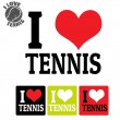 I love Tennis sign and labels — Stock Vector