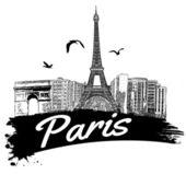 Paris affisch — Stockvektor