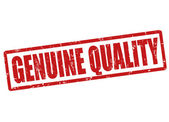 Genuine quality stamp — Stock Vector