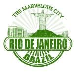 Rio de Janeiro ( The Marvelous City ) stamp — Stock Vector #36306049