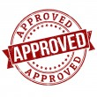 Stock Vector: Approved stamp