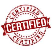 Certified stamp — Stock Vector