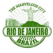 Rio de Janeiro ( The Marvelous City ) stamp — Stock Vector