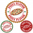 Pizza flavor stamps — Stock Vector