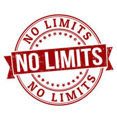 No limits stamp — Stock Vector
