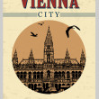Vienna vintage poster — Stock Vector #36423615