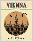 Vienna vintage poster — Stock Vector