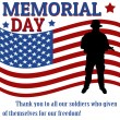 Memorial day poster — Stock Vector