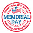 Memorial day stamp — Stockvektor