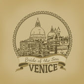 Venice ( Bride of the Sea) poster — Vetorial Stock