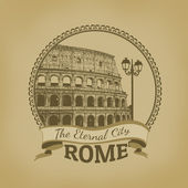 Rome ( The Eternal City) poster — Stock Vector