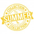 Summer collection stamp — Stock Vector