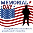 Memorial day poster — Stock Vector #36810851