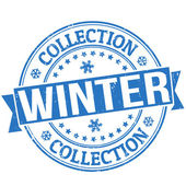 Winter collection stamp — Stock Vector