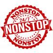 Nonstop stamp — Stock Vector