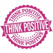 Think positive stamp — Stock Vector