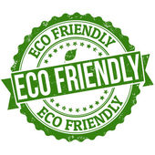 Eco friendly stamp — Stock Vector