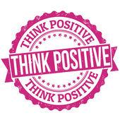 Denke positiv Stempel — Stockvektor