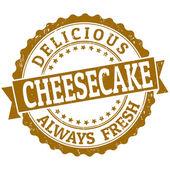 Cheesecake stamp — Vector de stock