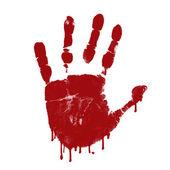 Bloody hand print — Stock Vector