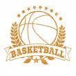 Grunge Basketball Laurel — Stock Vector