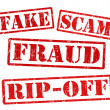 Stock Vector: Fake, Scam, Fraud, Rip off stamps