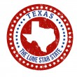 Texas stamp — Stock Vector