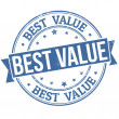 Best value stamp — Imagen vectorial